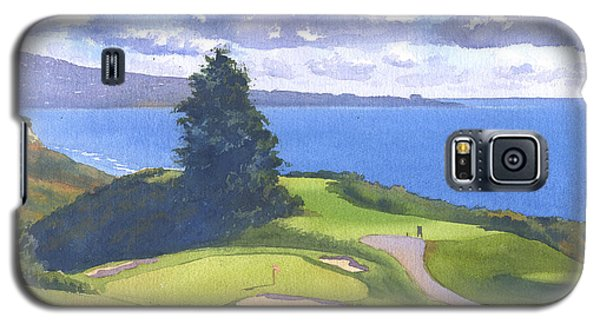 Torrey Pines Golf Course North Course Hole #6 Galaxy S5 Case by Mary Helmreich