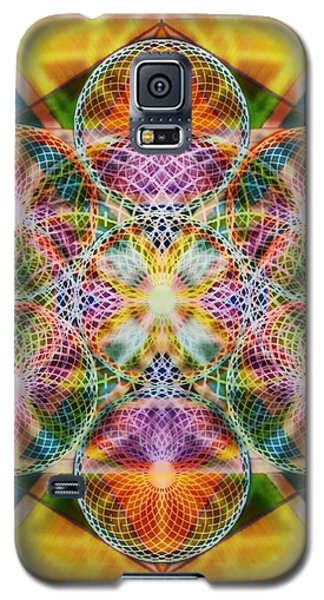 Galaxy S5 Case featuring the digital art Torusphere Synthesis Bright Beginning Soulin I by Christopher Pringer