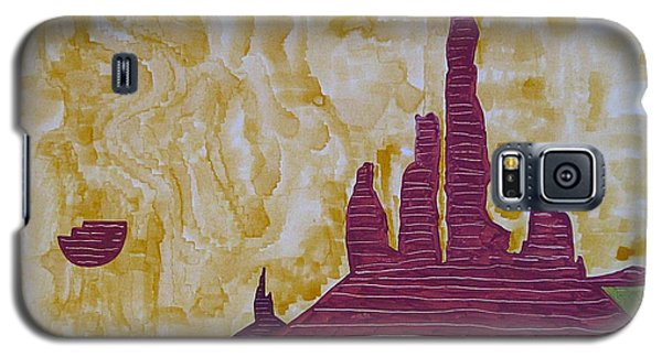 Totem Pole Monument Original Painting Galaxy S5 Case