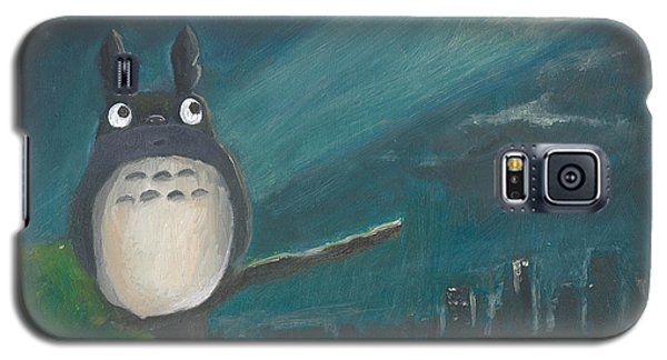 Galaxy S5 Case featuring the painting Totoro Batman And Los Angeles by Jessmyne Stephenson