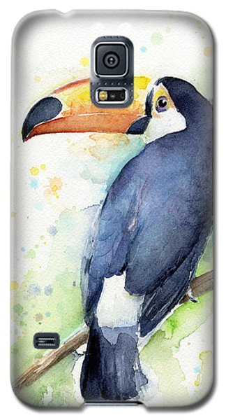 Parrot Galaxy S5 Case - Toucan Watercolor by Olga Shvartsur