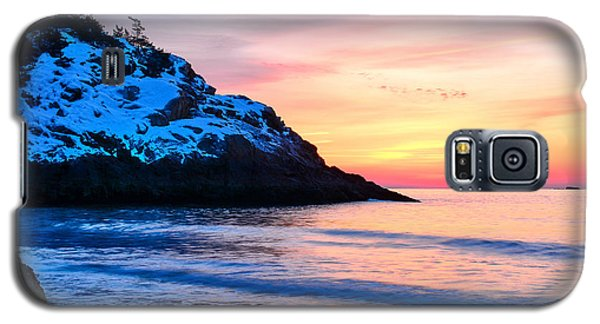 Touch Of Snow Singing Beach Galaxy S5 Case