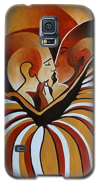 Galaxy S5 Case featuring the painting Touched By Africa I by Tracey Harrington-Simpson