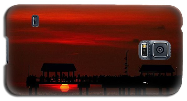 Galaxy S5 Case featuring the photograph Touching The Sunset by Richard Zentner