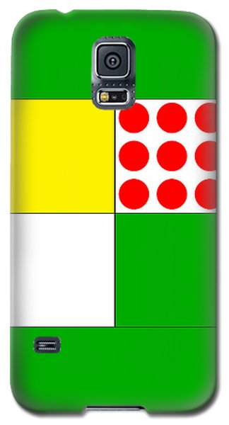 Galaxy S5 Case featuring the digital art Tour De France Jerseys 1 Green by Brian Carson