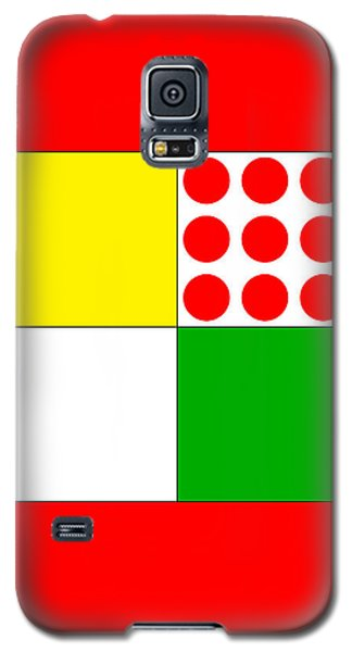 Galaxy S5 Case featuring the digital art Tour De France Jerseys 1 Red by Brian Carson