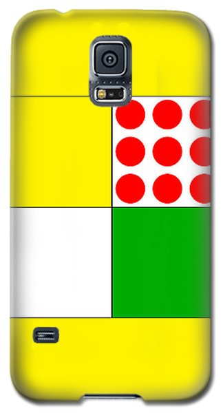 Galaxy S5 Case featuring the digital art Tour De France Jerseys 1 Yellow by Brian Carson