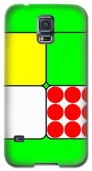 Galaxy S5 Case featuring the digital art Tour De France Jerseys 3 Green by Brian Carson
