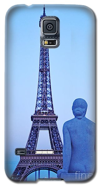 Tour Eiffel And Statue Galaxy S5 Case