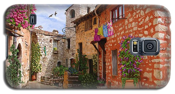 Galaxy S5 Case featuring the painting Tourettes Sur Loup France by Tim Gilliland