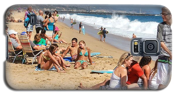 Tourist At Beach Galaxy S5 Case