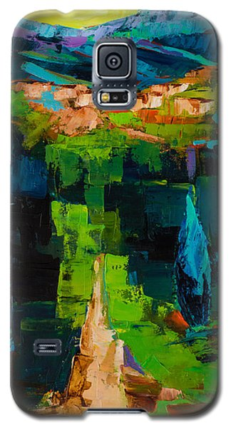 Galaxy S5 Case featuring the painting Toward The Tuscan Village by Elise Palmigiani