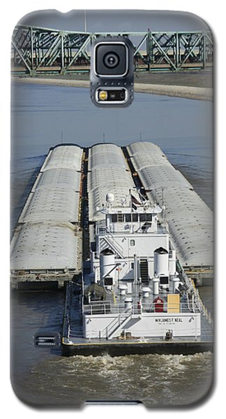 Towboat James Neal In The Chain Of Rocks Canal Galaxy S5 Case by Garry McMichael