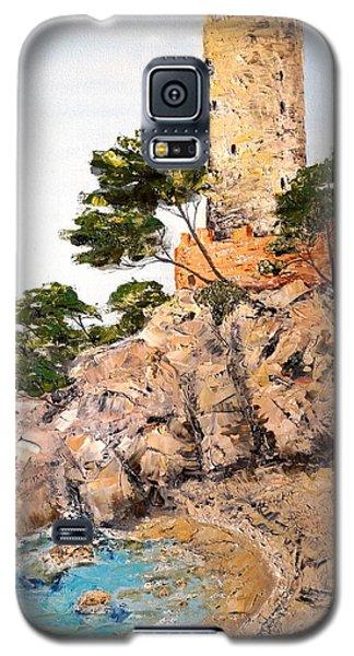 Tower At Playa De Aro Galaxy S5 Case by Marilyn Zalatan