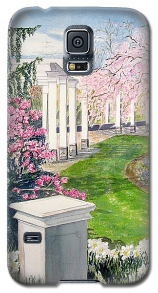 Galaxy S5 Case featuring the painting Tower Hill by Carol Flagg