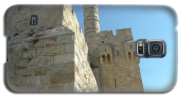 Galaxy S5 Case featuring the photograph Tower Of David Israel by Robin Coaker
