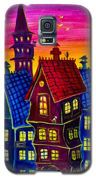 Town At Twilight Galaxy S5 Case