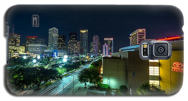 Toyota Center And Downtown Houston Galaxy S5 Case