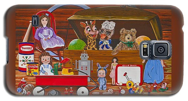 Galaxy S5 Case featuring the painting Toys In The Attic by Jennifer Lake