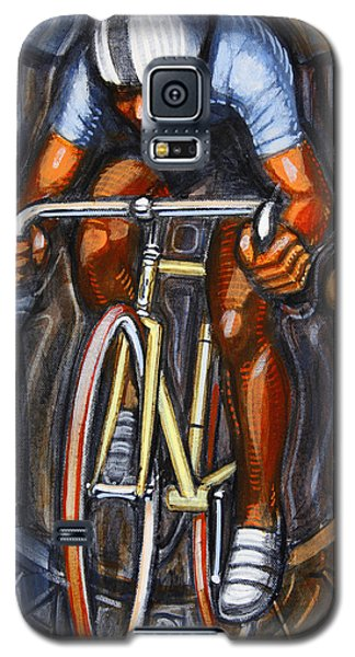Galaxy S5 Case featuring the painting Track Racer  by Mark Howard Jones
