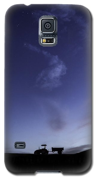 Galaxy S5 Case featuring the photograph Tractor At Sunset by Justin Albrecht
