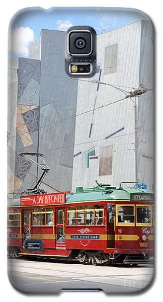 Traditional And Modern Symbols Of Melbourne - Tram And Architecture Galaxy S5 Case