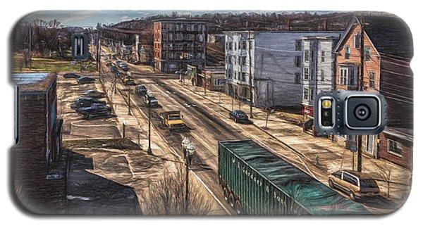 Traffic On Lincoln Street Galaxy S5 Case by Bob Orsillo