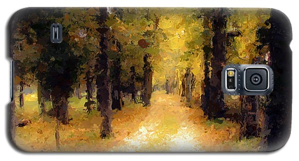 Galaxy S5 Case featuring the painting Trail In The Forest by Wayne Pascall