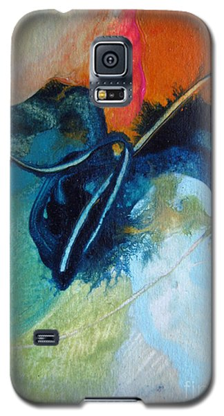 Galaxy S5 Case featuring the painting Trailmarks by Elis Cooke