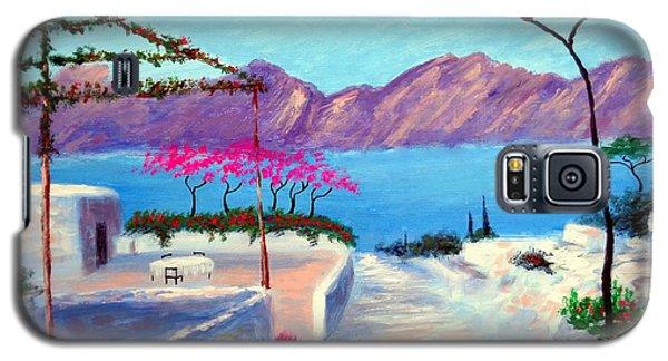 Trails Of Greece Galaxy S5 Case by Larry Cirigliano