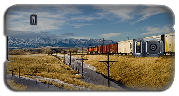 Train And The Crazies By Big Timber Montana Galaxy S5 Case