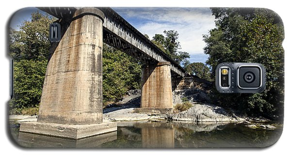 Galaxy S5 Case featuring the photograph Train Crossing 2 by David Lester