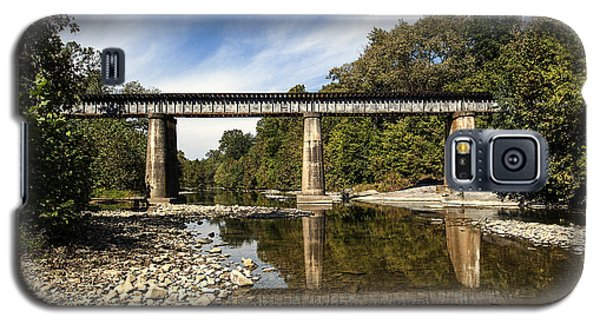 Galaxy S5 Case featuring the photograph Train Crossing by David Lester