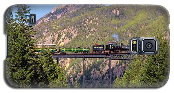 Train Over The Trestle Galaxy S5 Case