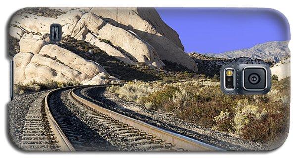 Railroad Tracks At The Mormon Rocks Galaxy S5 Case