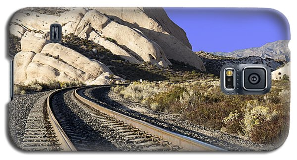 Railroad Tracks At The Mormon Rocks Galaxy S5 Case