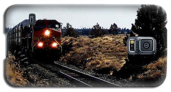 Galaxy S5 Case featuring the photograph Train Tracks by Jennifer Muller