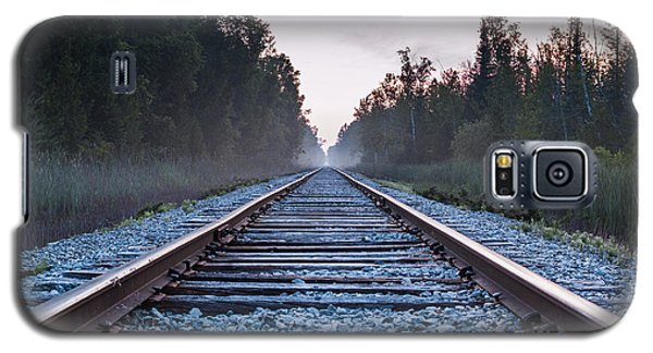 Galaxy S5 Case featuring the photograph Train Tracks To Nowhere by Patrick Shupert