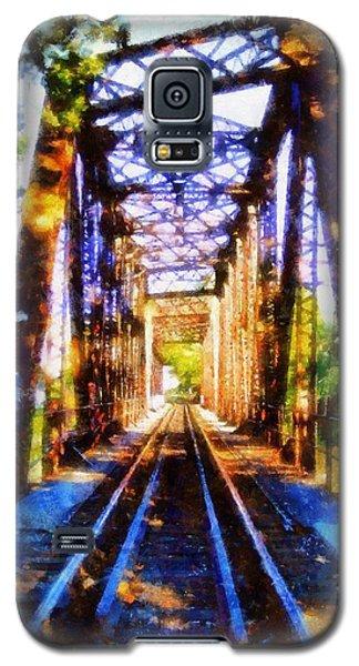 Train Trestle Bridge 2 Galaxy S5 Case by Janine Riley
