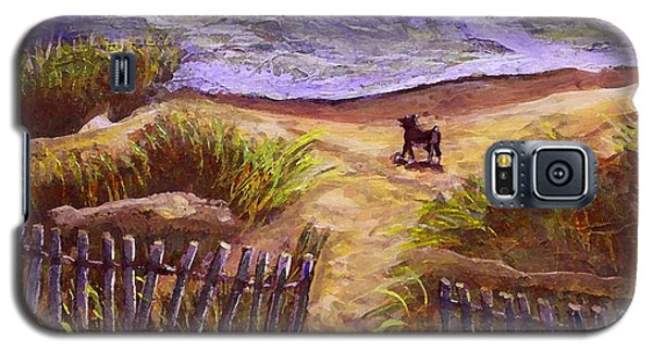 Galaxy S5 Case featuring the painting Training For A Triathlon by Rita Brown