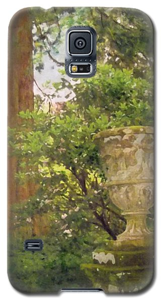 Galaxy S5 Case featuring the painting Tranquil Corner In Dawyck Botanic Garden by Richard James Digance