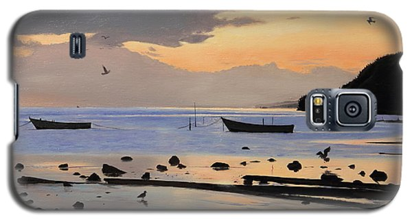 Galaxy S5 Case featuring the painting Tranquil Dawn by Glenn Beasley