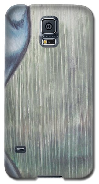 Galaxy S5 Case featuring the painting Tranquil Rain by Michael  TMAD Finney
