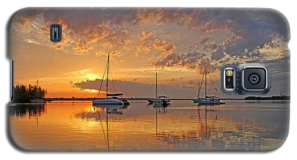 Tranquility Bay - Florida Sunrise Galaxy S5 Case by HH Photography of Florida