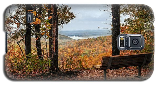 Galaxy S5 Case featuring the photograph Tranquility Bench In Great Smoky Mountains by Debbie Green
