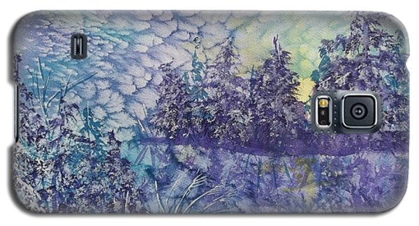 Galaxy S5 Case featuring the painting Tranquility by Ellen Levinson