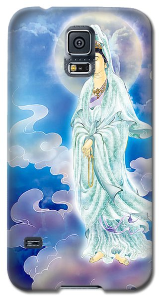 Galaxy S5 Case featuring the photograph Tranquility Enabling Kuan Yin by Lanjee Chee