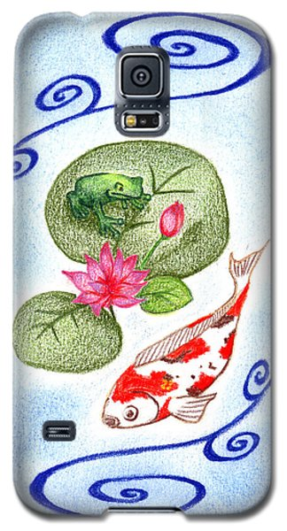Galaxy S5 Case featuring the drawing Tranquility by Keiko Katsuta