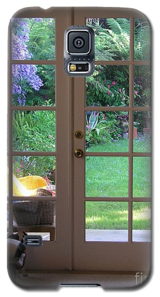 Galaxy S5 Case featuring the photograph Tranquility Through French Doors by Bev Conover