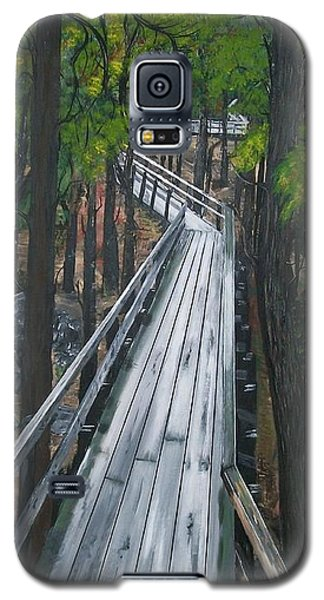 Galaxy S5 Case featuring the painting Tranquility Trail by Sharon Duguay
